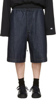 Juun.J Blue Denim covered In Mood Shorts