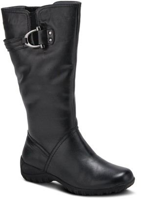 Spring Step Leather Wedge Boots - Albany