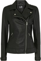 Wallis Black Faux Leather Biker Jacket