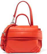 Tod's Wave Charm Micro Leather Shoulder Bag - Orange