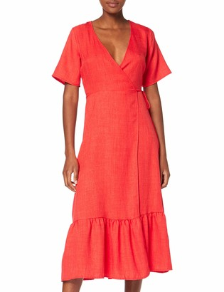 New Look 915 Women's Linen Tier Hem Dress