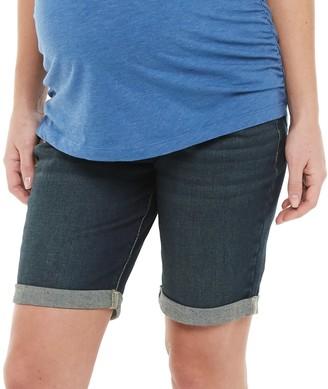 A Glow Maternity a:glow Roll Cuff Bermuda Shorts