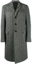 Valentino studded herringbone coat