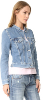 Acne Studios Top Frayed Denim Jacket