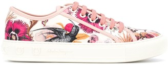 Salvatore Ferragamo Foulard Print Low-Top Sneakers