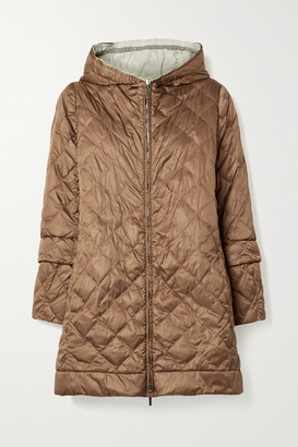 Max Mara The Cube Enovel Hooded Quilted Shell Down Jacket - Light brown