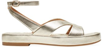 Kate Spade Marshmallow Metallic Leather Flatform Sandals