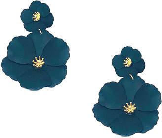 BIJOUX BAR Bijoux Bar Black Flower Drop Earrings