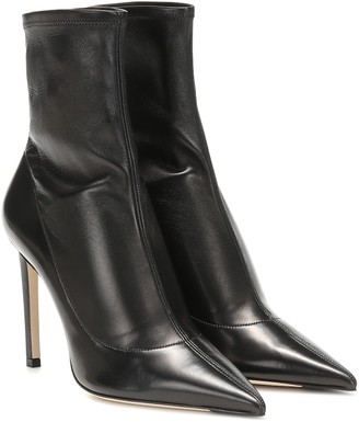 Jimmy Choo Brin 100 leather ankle boots