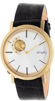Simplify The 3100 Collection SIM3104 Gold Stainless Steel Analog Watch