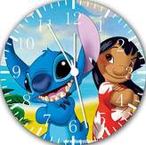 "Ikea New Lilo and Stitch Wall Clock 10"" Will Be Nice Gift and Room Wall Decor E155"