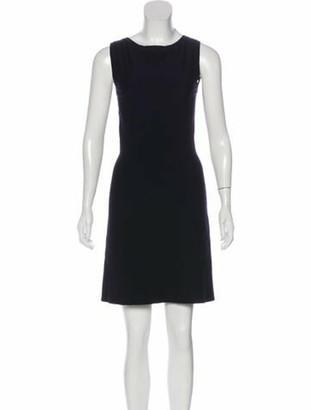 Alaia Virgin Wool Mini Dress Navy