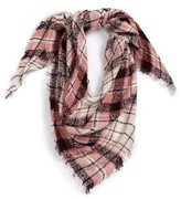 David & Young Women's Dusty Plaid Square Scarf
