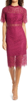 Lulus Remarkable Lace Cocktail Dress