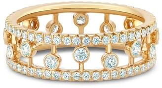 De Beers 18kt yellow gold Dewdrop diamond band