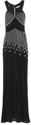 Paco Rabanne Embellished silk-blend gown