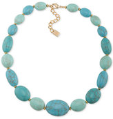 Lauren Ralph Lauren Gold-Tone Large Blue Stone Statement Necklace