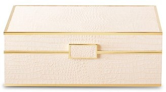 AERIN Classic Croc-Embossed Jewelry Box