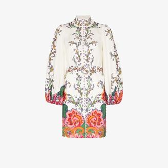 Zimmermann Lovestruck buttoned tunic dress