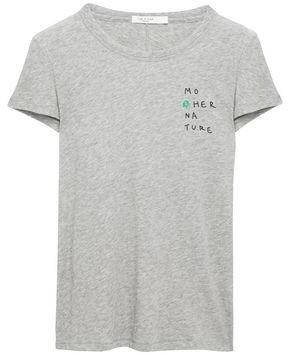 Rag & Bone Mother Nature Printed Slub Pima Cotton-jersey T-shirt