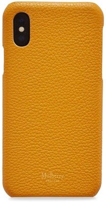 Mulberry iPhone X/XS Cover Deep Amber Small Classic Grain
