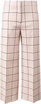 Valentino grid print straight-leg trousers - women - Silk/Spandex/Elastane/Lyocell/Virgin Wool - 40