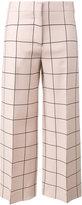 Valentino grid print straight-leg trousers