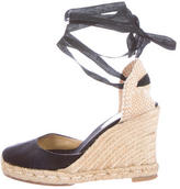 Christian Louboutin Lace-Up Espadrille Wedges
