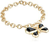 Kensie Chain with Geo Butterfly Charm Bracelet, 7.5""