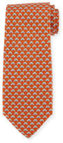 Salvatore Ferragamo Teddy Bear Silk Twill Tie, Orange