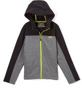 Hawke & Co Gray Colorblock Hooded Jacket - Boys