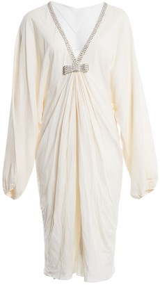 Azzaro Ecru Silk Dress for Women Vintage