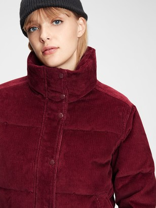 Gap Midweight Cropped Corduroy Puffer Jacket