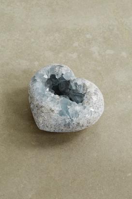 JIA JIA Small Celestine Geode Heart - Blue