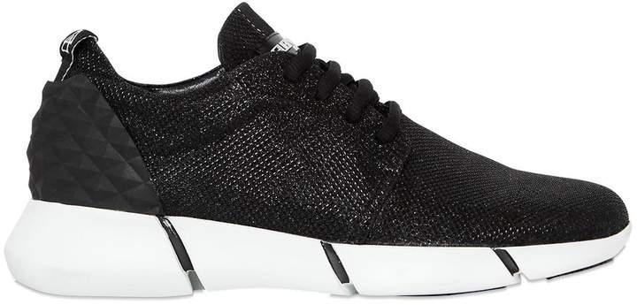 Elena Iachi 30mm Glittered Fabric Sneakers