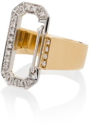 EÉRA 18kt Yellow Gold Pave Diamond Ring