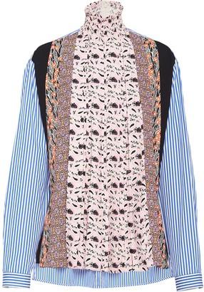 Prada Stand-Up Collar Sable Blouse