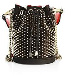 Christian Louboutin Women's Marie Jane Studded Leather Bucket Bag