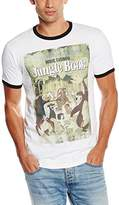 Disney Men's Jungle Book Retro Poster Ringer T-Shirt