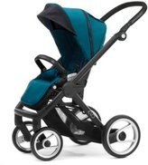 Mutsy Evo Stroller with Black Frame, Pacific by