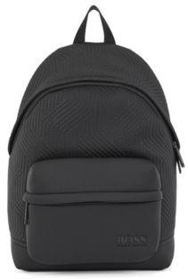 HUGO BOSS Logo Backpack In Neoprene With Recycled Materials - Black