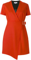 Carven V-neck wrap dress - women - Polyester/Virgin Wool/Acetate/Viscose - 36
