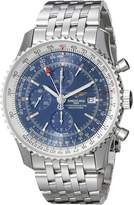 Breitling Men's A2432212-C651 Analog Display Swiss Automatic Silver-Tone Watch