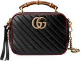 Gucci GG Marmont small shoulder bag with bamboo