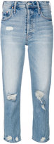 Mother ripped jeans - women - Cotton/Spandex/Elastane - 25