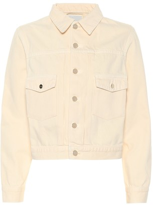 Gold Sign The Pleat denim jacket