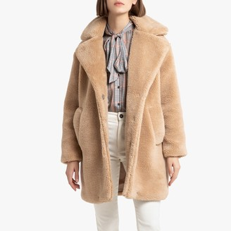 La Redoute Collections Teddy Faux Fur Coat with Pockets