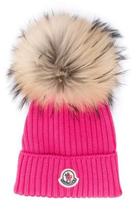Moncler faux fur pom pom hat