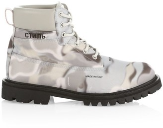 Heron Preston Camouflage Ankle Boots