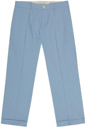 Gucci Kids Striped cotton pants